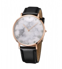 Luxury Real Marble Dial Stainless steel Wrist Watch (1pcs MOQ)