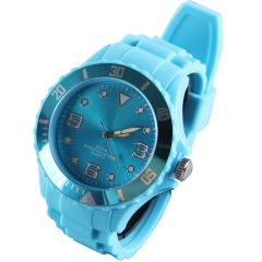 10ATM Silicone Wrist Watch 43MM Unisex for Christmas gift Promot