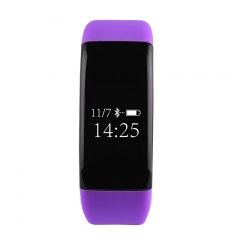 V6 Purple Silicon Sports Wristband Deep WaterProof Quick Charge Smart  Bracelet