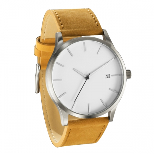 Men's Classic Brown Large Minimalist Analogue Quartz Fashion Watch