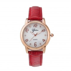 New fashion alloy leather city female quartz watch