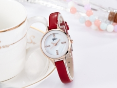 Christmas lady senior fashion leather gift watch