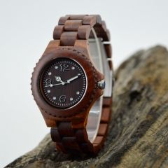 Custom logo hot sale wooden wrist watch