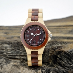 Vogue Wooden  Quartz wrist watch for man