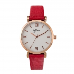 Fashion simple lady leather quartz watch