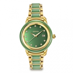 New Arrival Real Jade Watches Sapphire Glass Quartz Men Watch