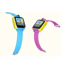 children smart watch with  more functions colorful silicon strap GPS location