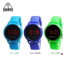 LED watch within colorful watch silicon material high quality hot sale watch