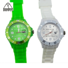 high quality hot sale silicon material within different color strap Plataforma giratoria watch