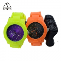 hot sale silicon material strap within high quality sports bracelet colorful watch