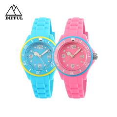 silicon material within different color strap pattern dial face plataforma giratoria