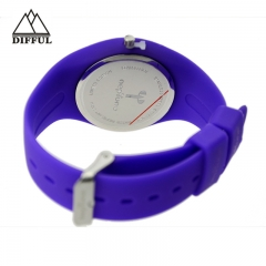high quality alloy case silicon material various color iceful wrist watch