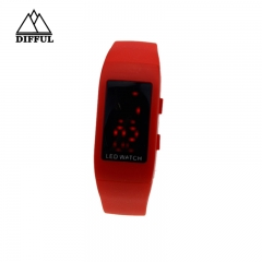 smart bracelet colorful strap digital display sport bracelet silicon material