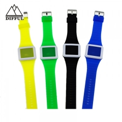 high quality slight watch silicon watch LED watch with digital display watch