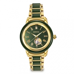 Custom Top-Quality hot sale man Mechanical  jade  wrist Watch