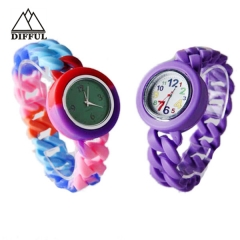 disruptive pattern watch silicon material alloy case watch convenient colorful watch strap