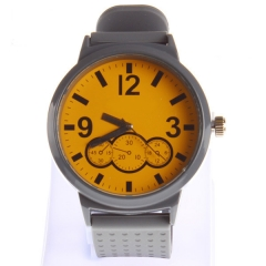 alloy case watch silicon material strap watch big dial face high quality hot sale watch
