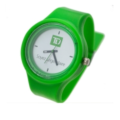 jelly watch silicon material watch circle dial face watch alloy case meterail watch
