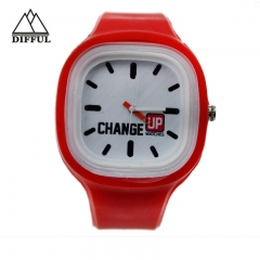 silicon material more colors watch square shape watch hiha quality hot sale