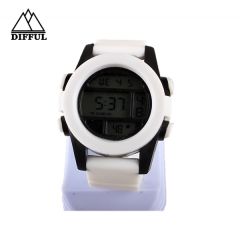 digital watch with singal movement alloy case watch sports watch silicon  watch