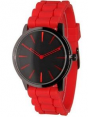 silicon rubber strap watch with high quality and hot sale unisex quartz sports watch