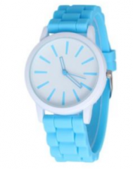 rubber material strap in more colors watch high quality wristband,sports watch for women