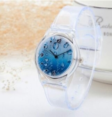 silicon rubber strap watch with high quality and multiple dial face watch